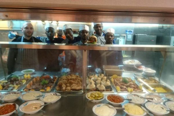 MEA Catering galley team onboard the ENSCO DS-7 Drillship