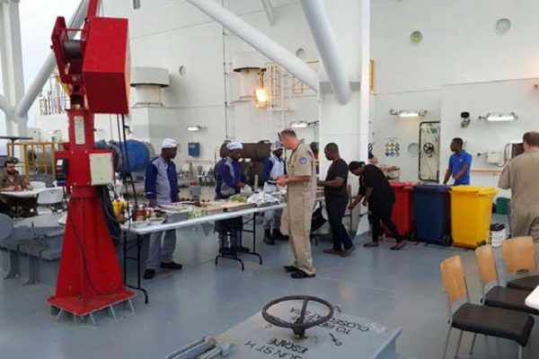 MEA Catering outdoor BBQ for ENSCO DS-7