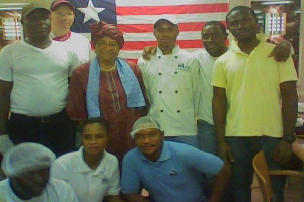 Mea Catering Crew with Liberian President